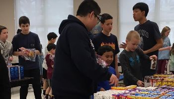 SVMS Buddies Prep Food for Students in Paterson