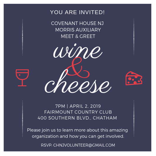 Covenant House Auxiliary Wine & Cheese Info Night